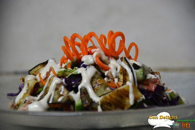 Healthy tahini eggplant salad