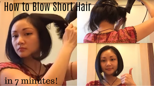 如何吹出鲍勃头(初级) | How to blow your Bob Hair (for beginner)