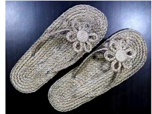 Sandalias artesanales elaboradas con Yute
