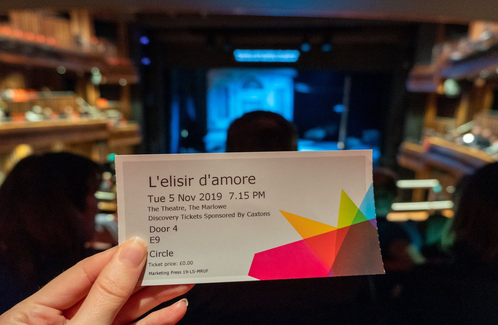 L'elisir d'amore opera at the Marlowe Theatre, Canterbury