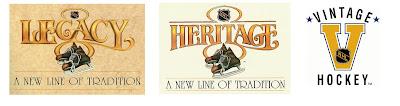 NHL Vintage logo and NHL Heritage logo