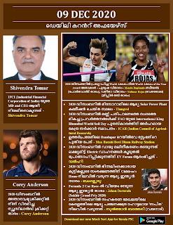 Daily Malayalam Current Affairs 09 Dec 2020