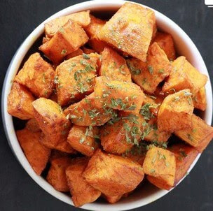 Roasted Curried Yam