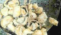 Crisp fried mushrooms for chilli mushroom recipe