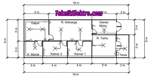 contoh denah diagram satu garis