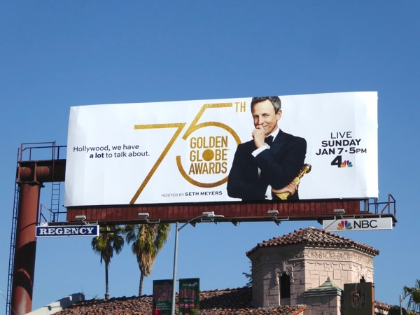 75th Golden Globe Awards billboard