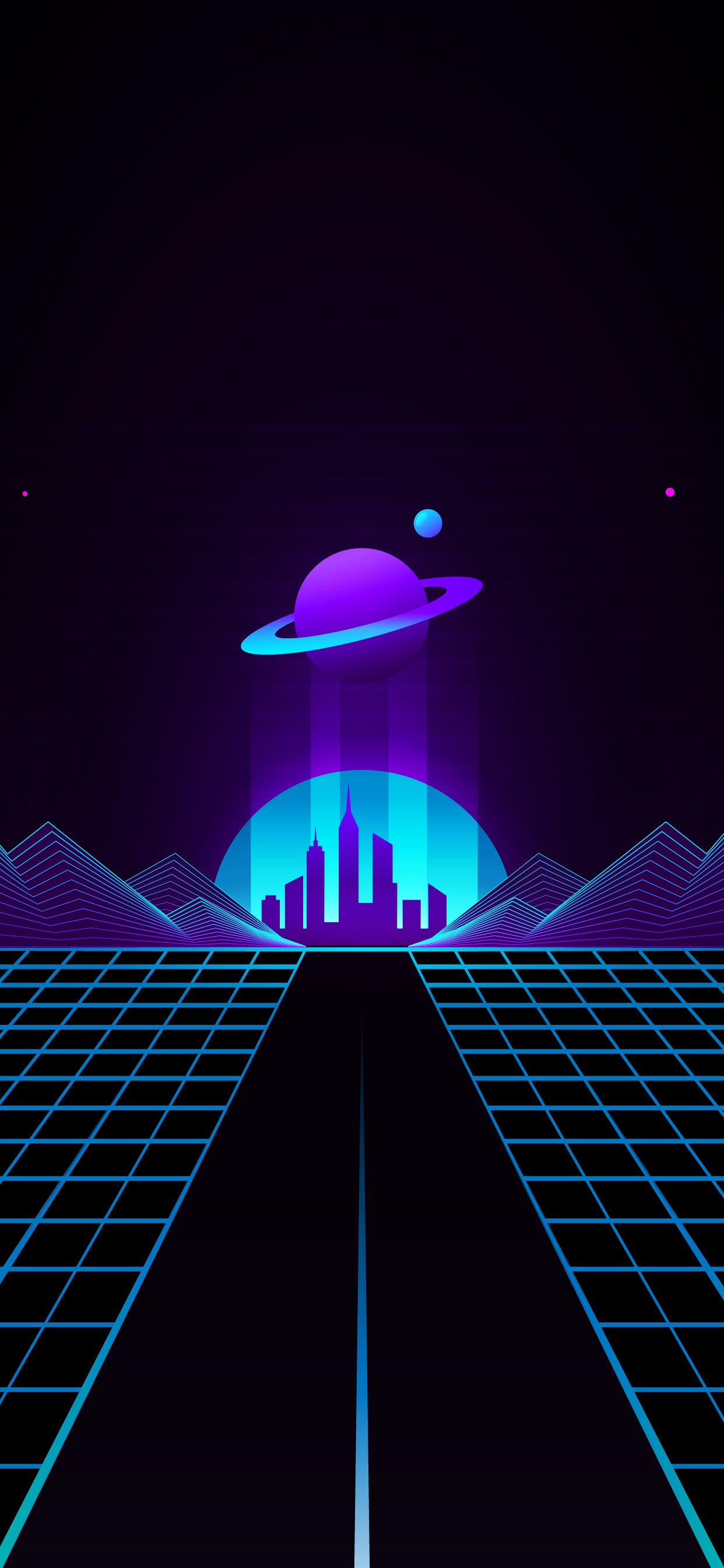 Saturn outrun wallpaper hd night for mobile phone