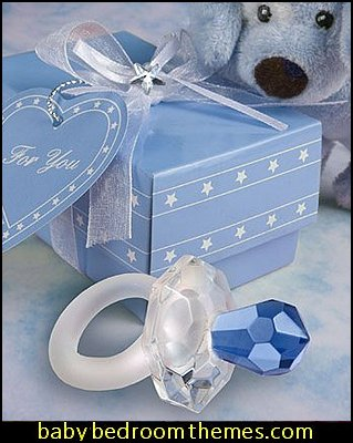 Blue Crystal Pacifier Favors pacify favors baby shower decorations