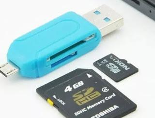 Cara memindahkan foto dengan card reader