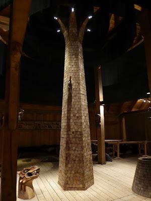 Iles Lofoten musée des vikings à borg salle consacrée à la religion.