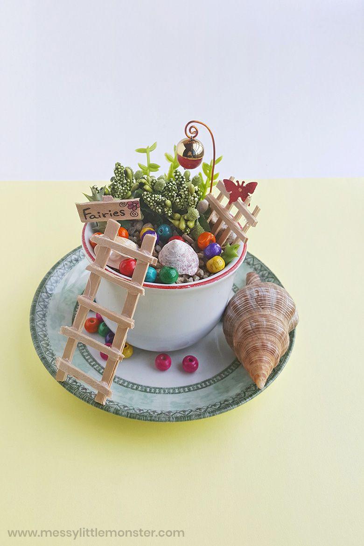 Mini fairy garden nature crafts for kids
