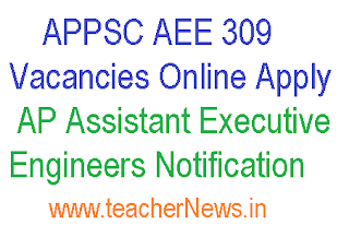 APPSC AEE 309 Vacancies Online Apply – AP Assistant Executive Engineers Notification
