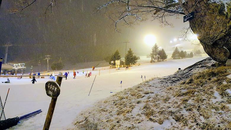 只要雪道沒有因雪而關閉,還是要繼續滑呢
