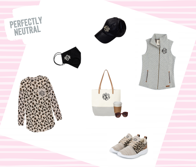 Personalized spring neutrals from Marleylilly.com that will surely become wardrobe must-haves