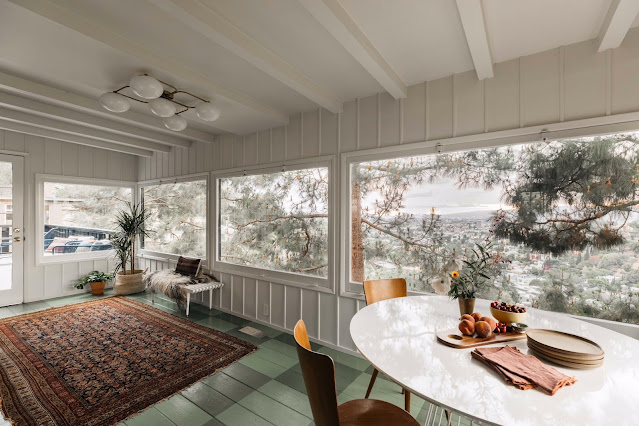 Sun porch connected to dining room.