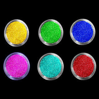 Make your own glitter that glows in the dark!  Kids of all ages are sure to love this craft recipe! #glitterrecipes #neonglitter #glowinthedarkglitter #glitterrecipe #glitter #homemadeglitter #howtomakeglitter #glowglitter #growingajeweledrose #glitterrecipehowtomake