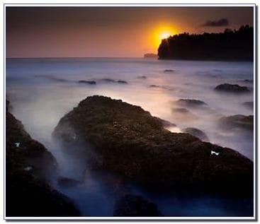 Sunset di Pantai Srau Pacitan