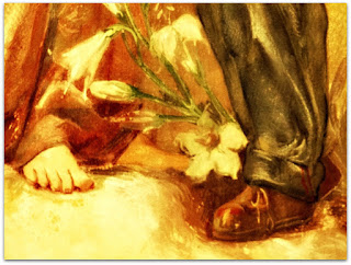Nossa Senhora e As Crianças, Aldo Locatelli - A Virgem de Pés Descalços