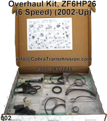 Cobra Transmission Parts 1-800-293-1848: ZF-6HP26, 6HP26A