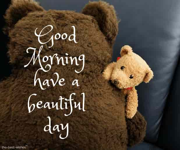 gud mrng teddy bear images