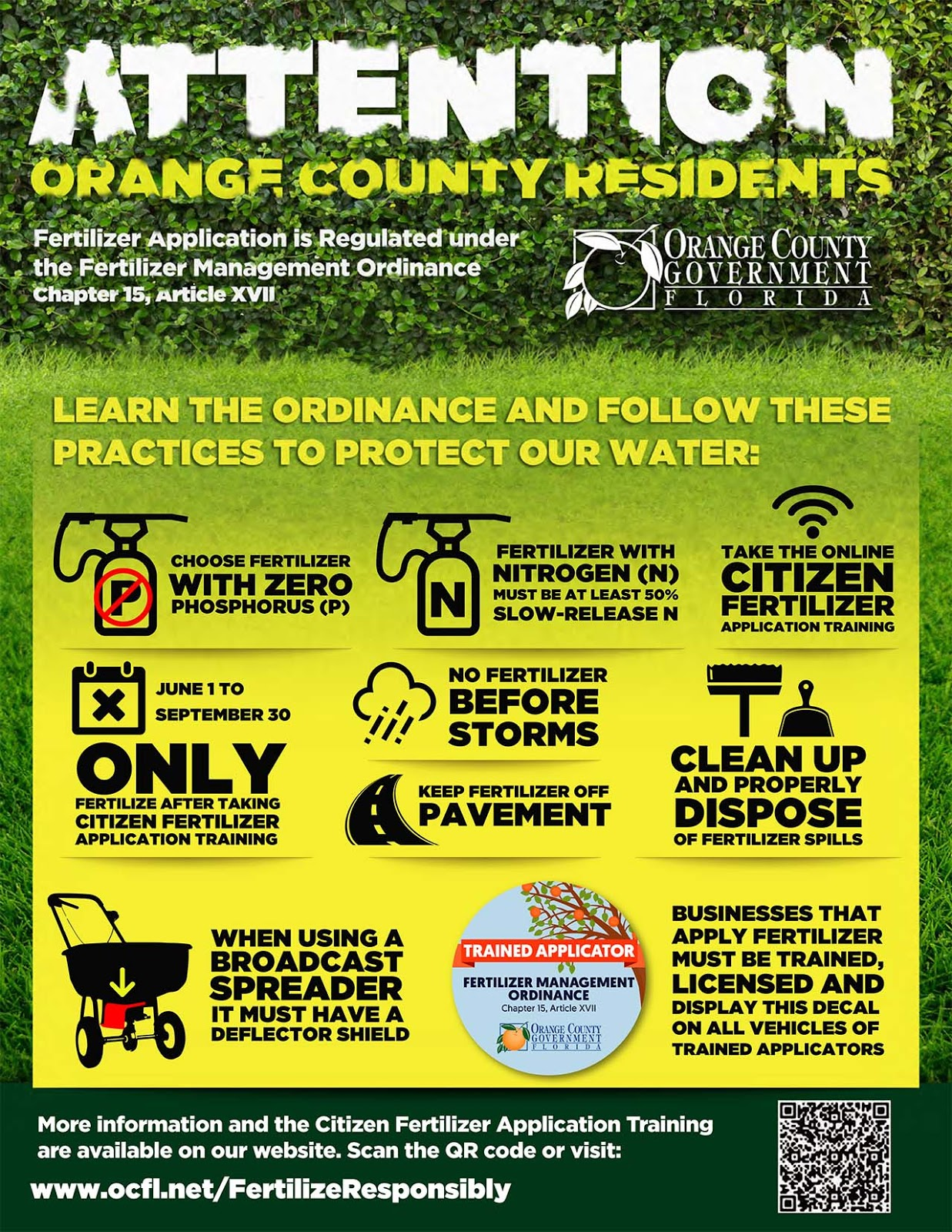 Orange County fertilizer brochure