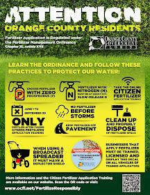 Orange County fertilizer brochure
