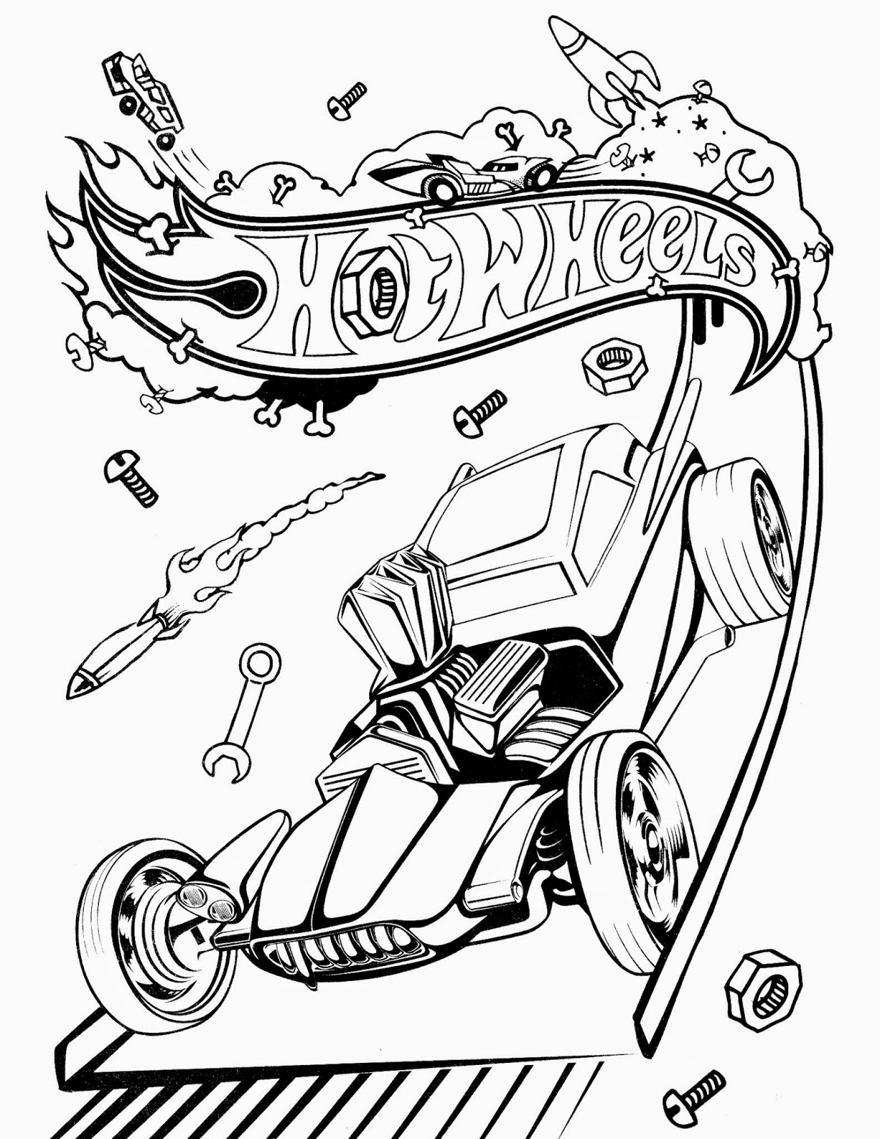 Hot wheels coloring pages 72