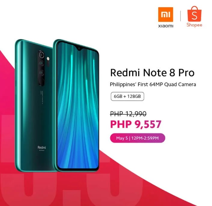 Redmi Note 8 Pro 6GB + 128GB On Sale Tomorrow For Php9,557 Instead of Php12,990