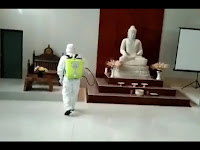 Lagi, FPI Bantu Semprot Disinfektan di Tempat Ibadah Non Muslim