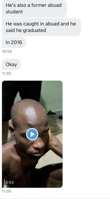 Gay rapist caught at Crescent University in Ogun state (Watch video)