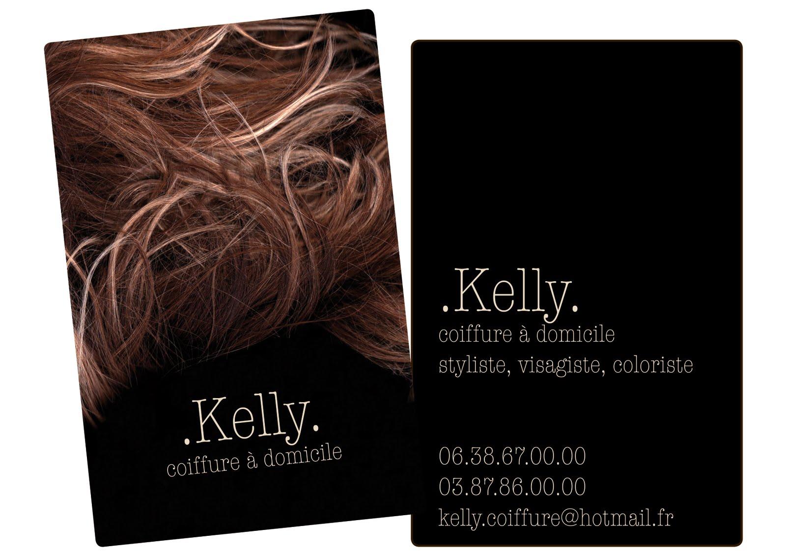 COMMANDE CARTE DE VISITE Kelly Coiffure