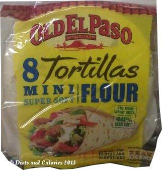 Diets And Calories Old El Paso Mini Super Soft Tortillas