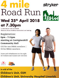 4 mile in Carrigtwohill...Wed 25th Apr 2018