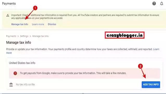 google adsense tax in india