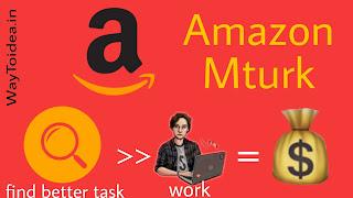 Amazon Mturk, how to make money online with Amazon Mturk, Amazon Mturk logo