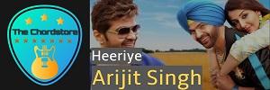 Arijit Singh - HEERIYE Easy Guitar Chords (Happy Hardy and Heer)