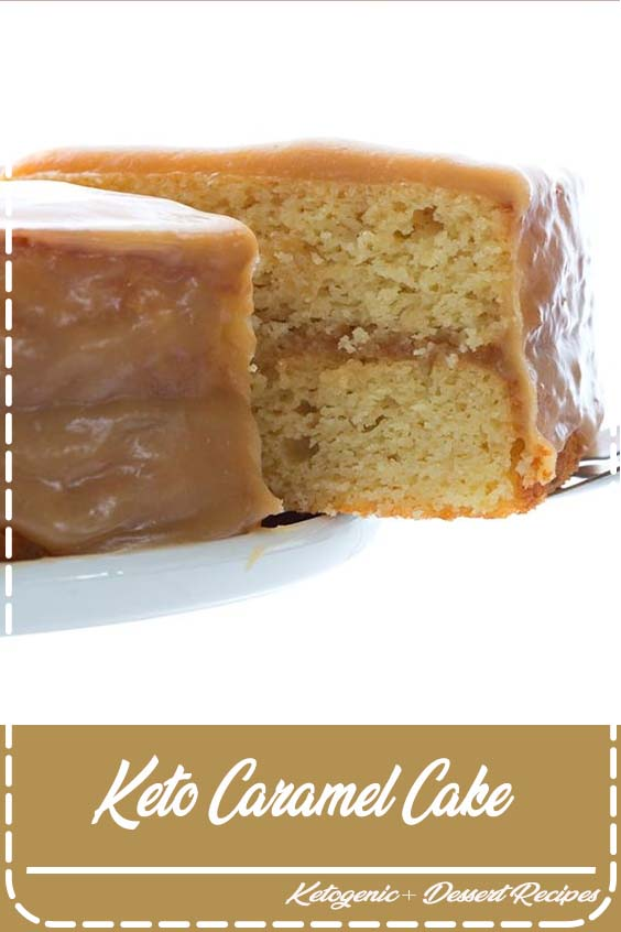 Love at first bite with this keto caramel cake Keto Caramel Cake