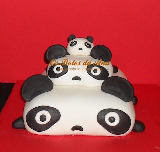 Bolo Familia Panda, Panda Family Cake