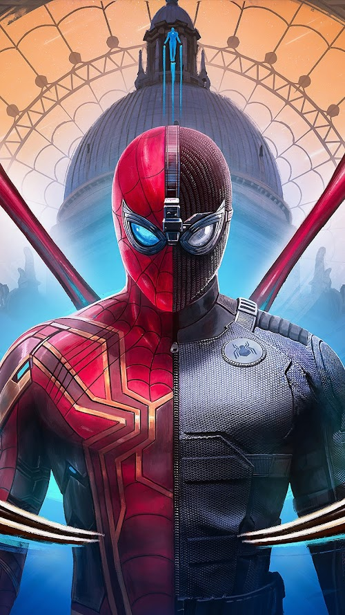 Spiderman Far From Home Suit   Mobile Wallpaper
