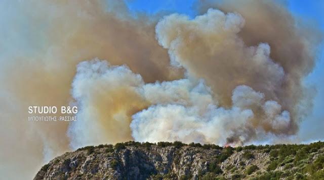 Στο κόκκινο για πυρκαγιές και την Τετάρτη η Αργολίδα (χάρτης)