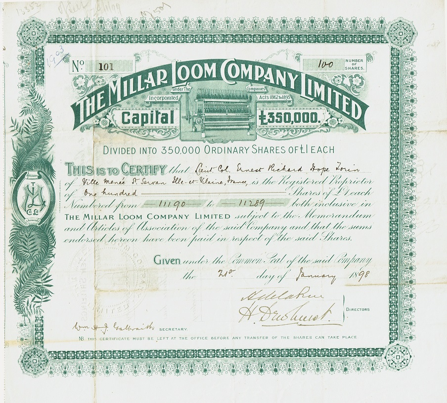 Franky\u0027s Scripophily BlogSpot What is a share certificate, what is - Company Share Certificates