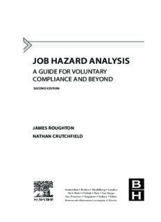 Job Hazard Analysis, Second Edition A Guide for Voluntary Compliance and Beyond