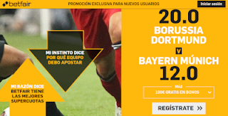 betfair supercuota supercopa alemania Dortmund vs Bayern Munich 3 agosto 2019