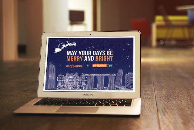 Confluence Christmas greeting card