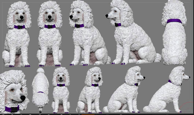 Statue preview of Poodle Carma Poodale