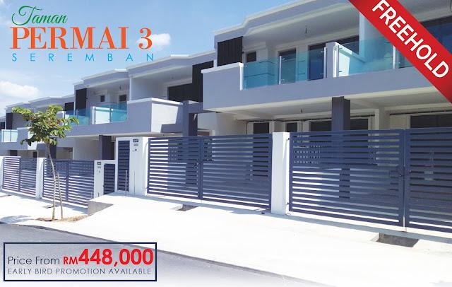 Double Storey Link House @ Taman Permai 3, Seremban