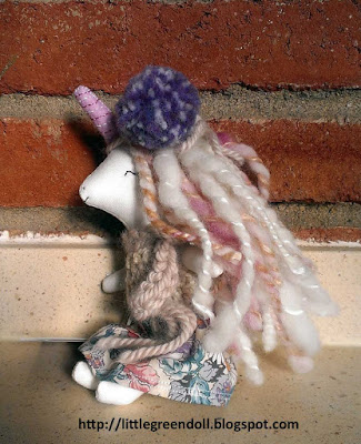 LibertyLavenderDolls Mini unicorn doll