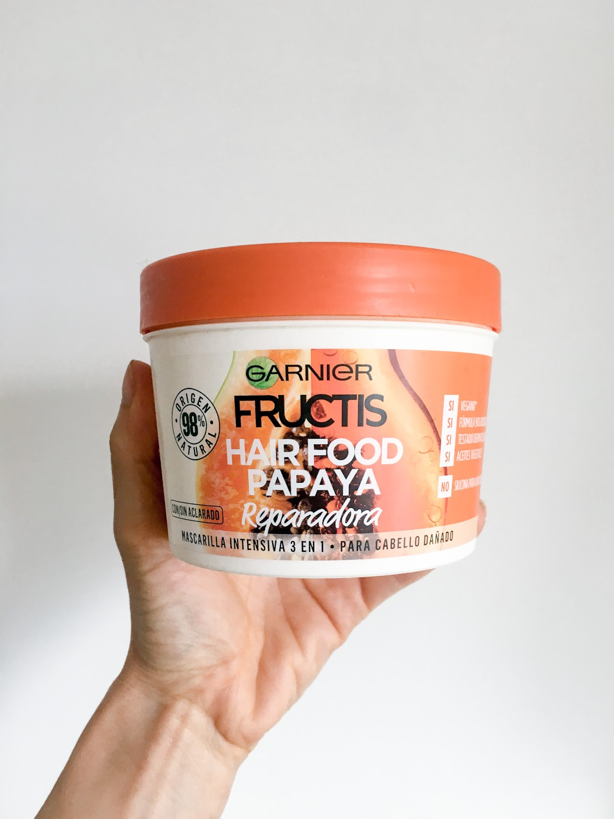 mascarilla fructis hair food papaya garner opinion