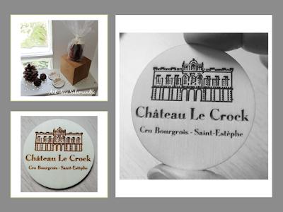 magnet en bois Chateau Le Crock cru bourgeois saint estephe
