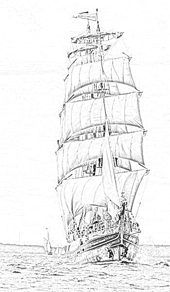 british sailing warship coloring pages - photo#42
